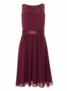 Womens **Showcase Mulberry 'Bethany' Midi Dress- Red, Red