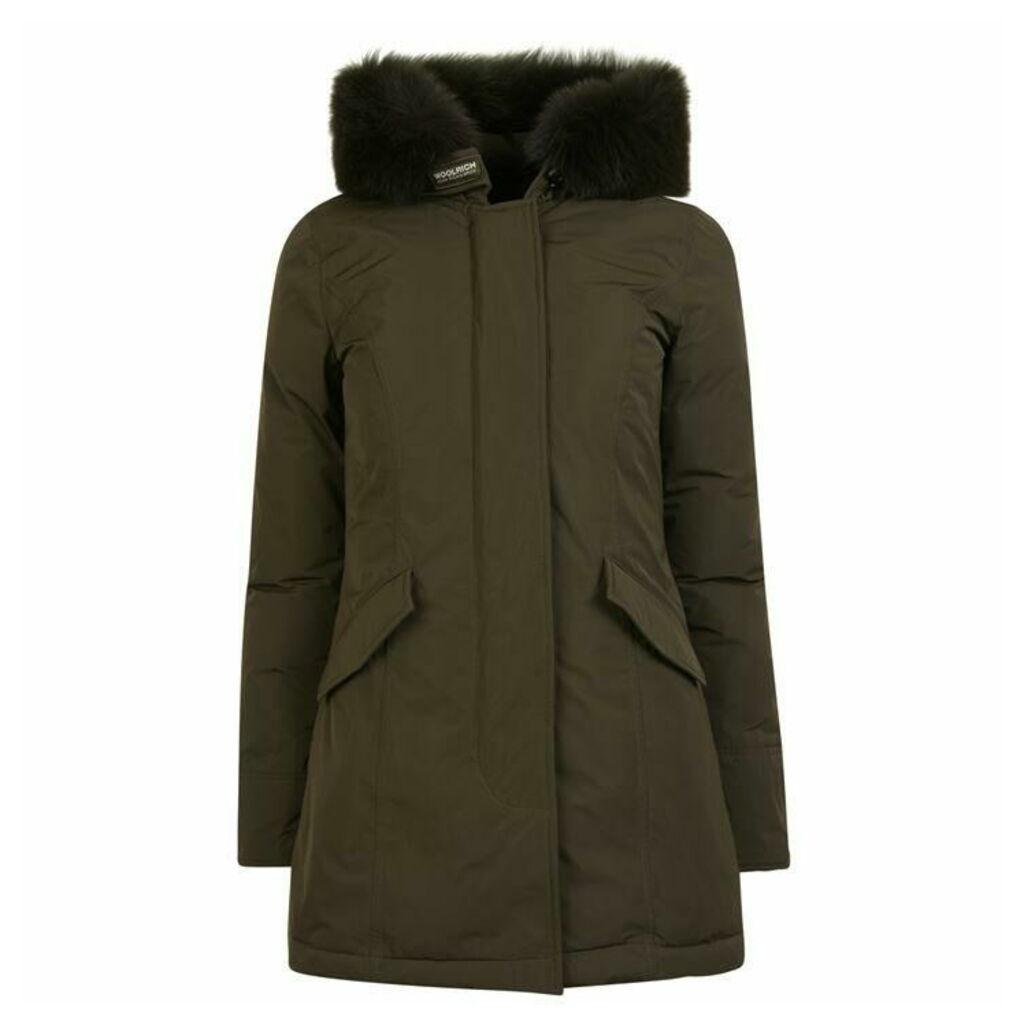 WOOLRICH Wool Arctic Fox Parka Jacket