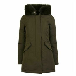 Woolrich Wool Arctic Fox Parka Jacket
