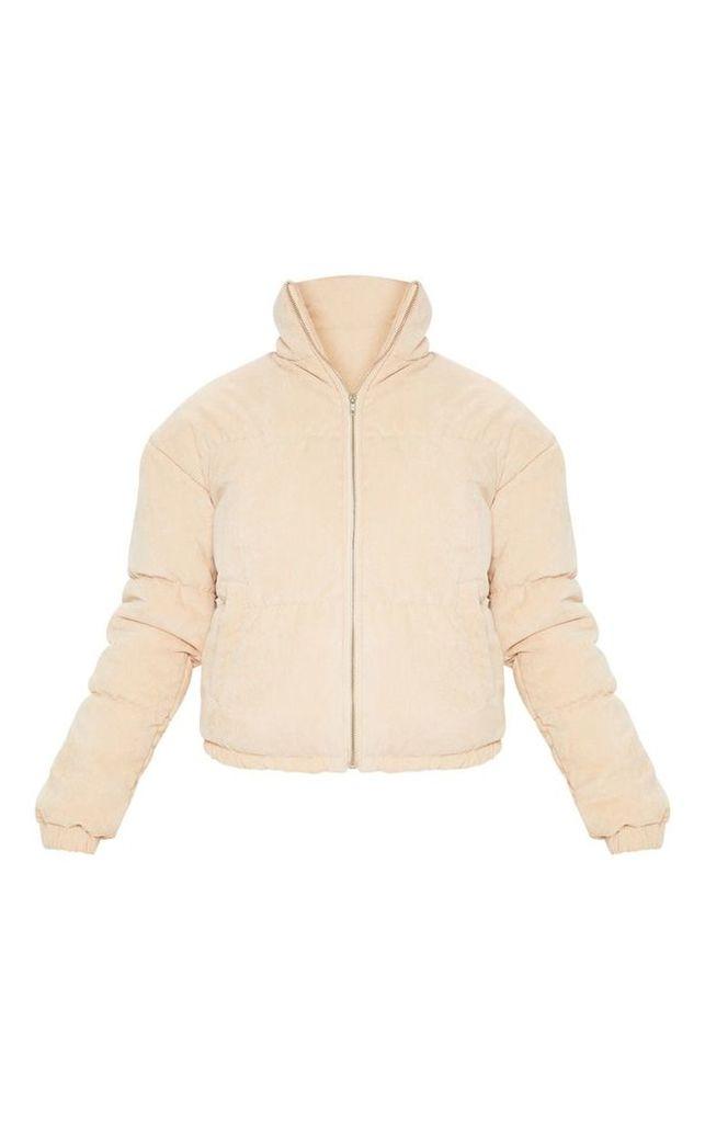 Tall Stone Cord Puffer Coat, White