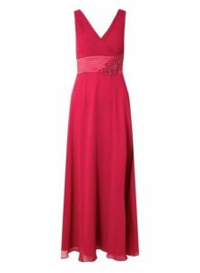 Womens **Cranberry 'Aria' Maxi Dress- Red, Red