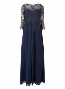Womens **Showcase Navy 'Rosaline' Lace Maxi Dress- Navy, Navy