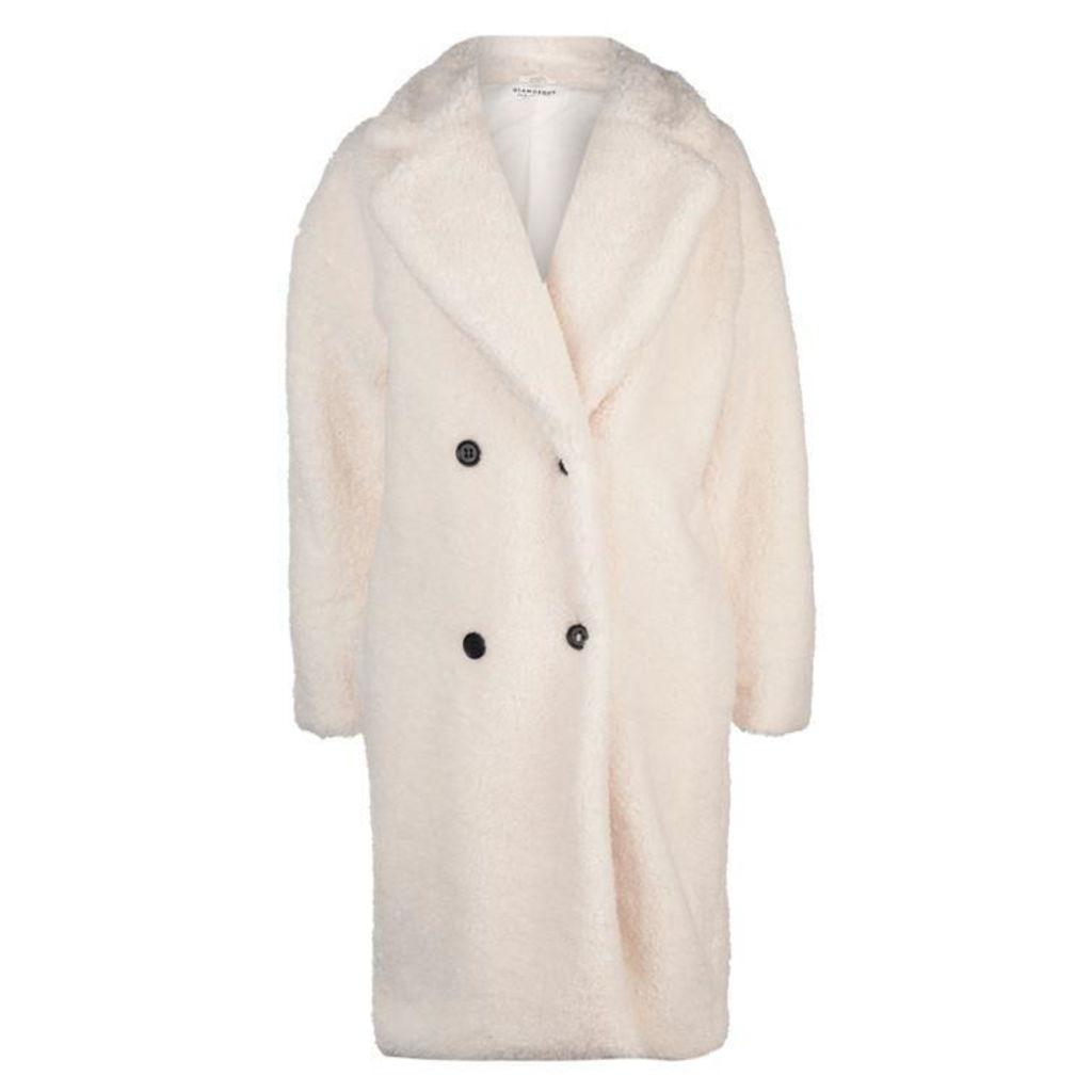 Glamorous Sherpa Textured Coat - Cream