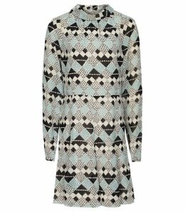 Reiss Ardelle - Geo Printed Mini Dress in Multi, Womens, Size 16