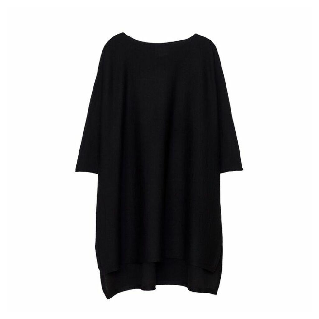 Arela Eelia Merino Wool Tunic In Black