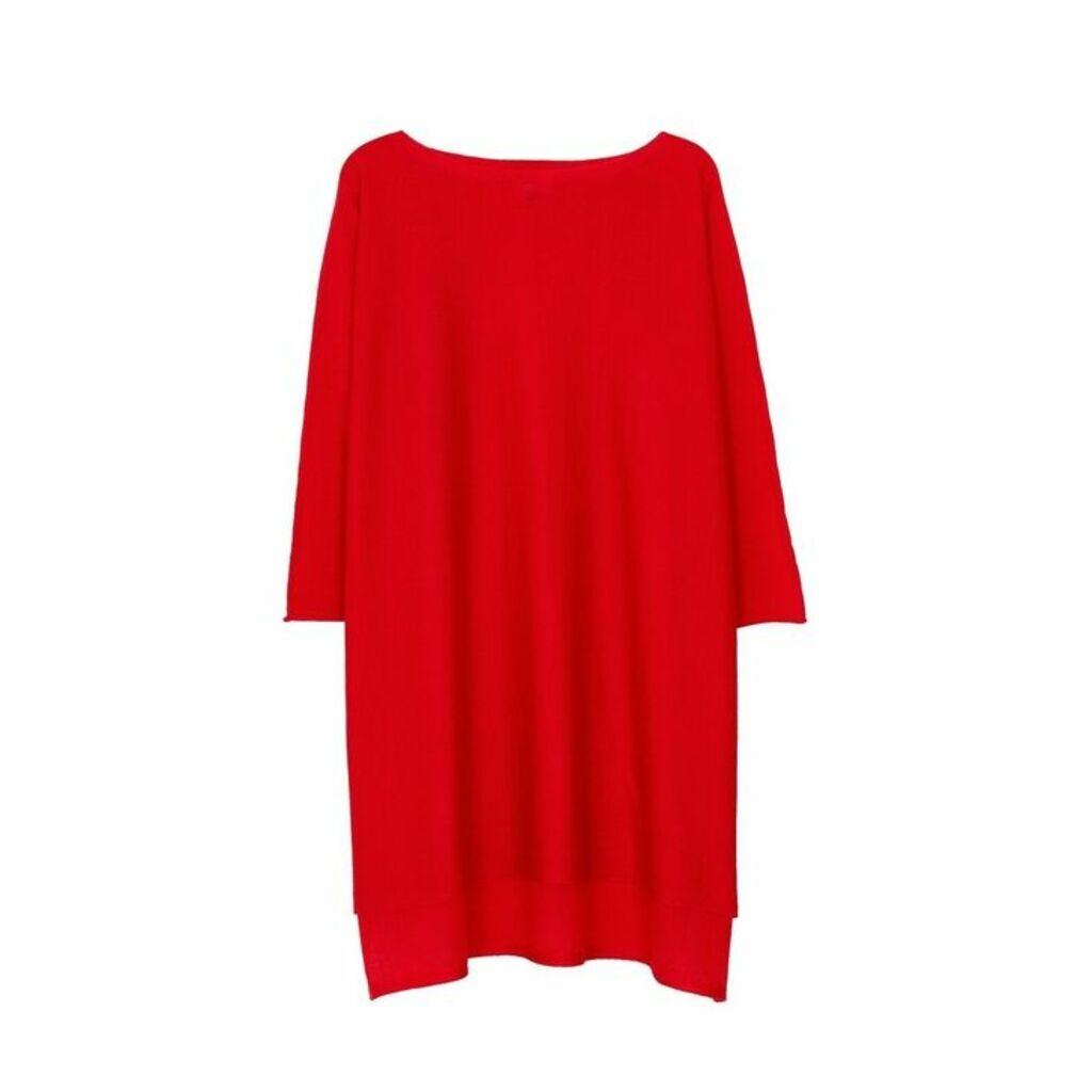 Arela Eelia Merino Wool Tunic In Red
