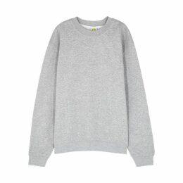 Yeah Right NYC Grl Pwr Grey Cotton-blend Sweatshirt