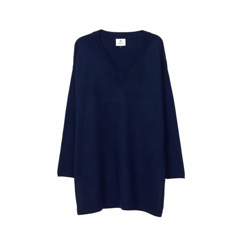 Arela Malka Cashmere Tunic In Dark Blue
