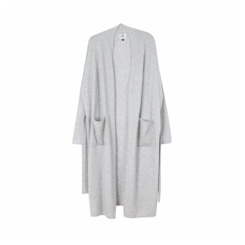 Arela Haru Cashmere Robe In Light Grey