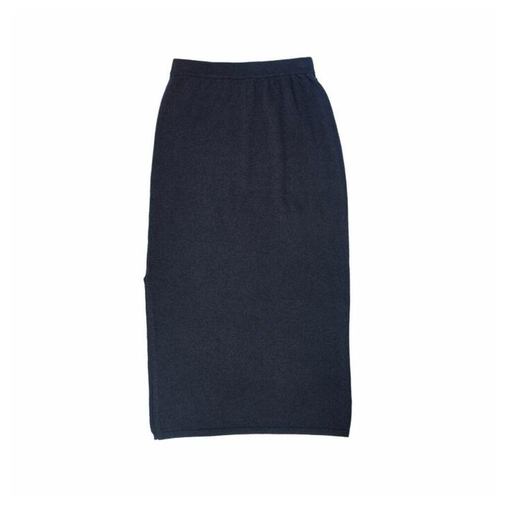 Arela Kelly Cashmere Skirt In Dark Grey