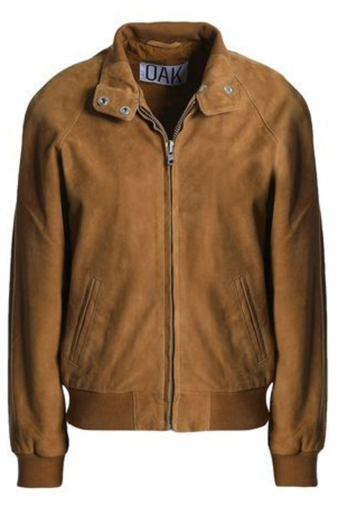 Oak Woman Render Suede Jacket Light Brown Size L