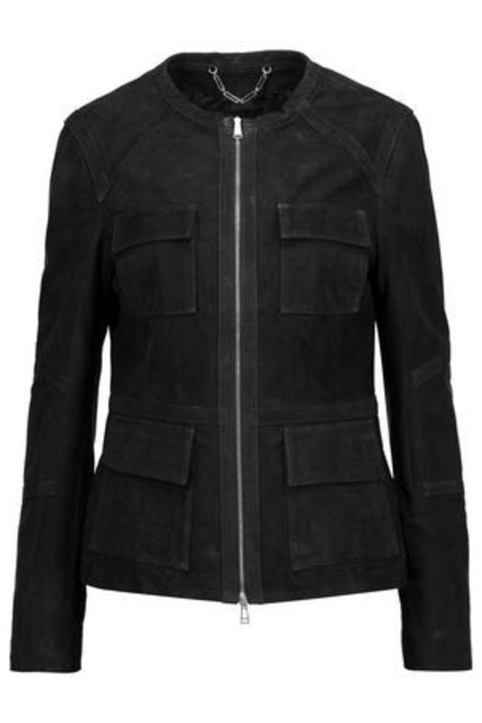 Belstaff Woman Brimms Suede Jacket Black Size 38