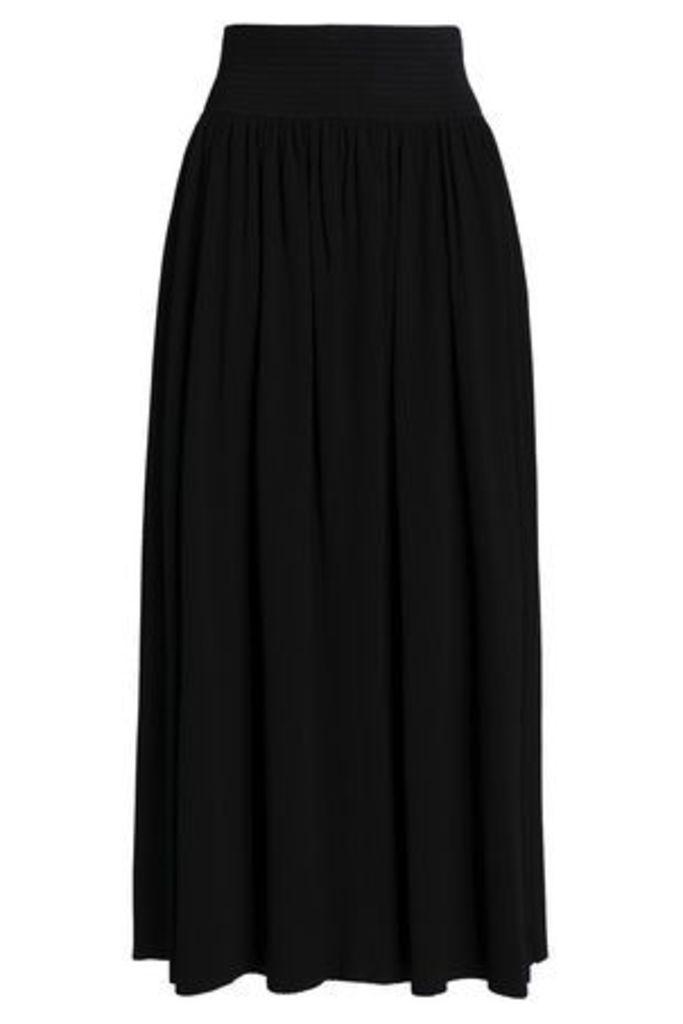 Gentryportofino Woman Ribbed-knit Maxi Skirt Black Size 40