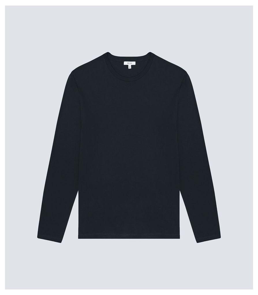 Reiss Bravado - Long Sleeved Top in Navy, Mens, Size XXL