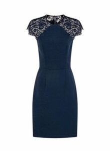 Womens *Chi Chi London Navy Lace Bodycon Dress- Navy, Navy