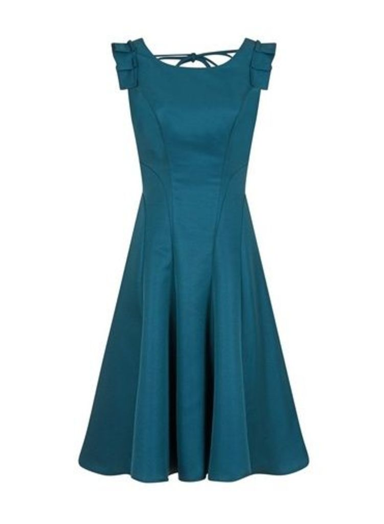 Womens *Chi Chi London Teal Pleated Midi Skater Dress- Teal, Teal