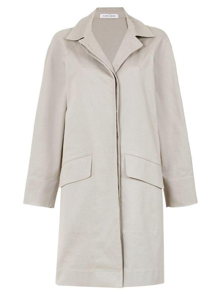 Gloria Coelho side slits cape coat - Grey