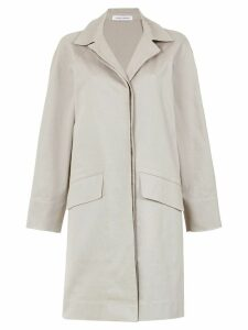 Gloria Coelho side slits cape coat - Grey