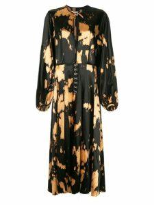 Marques'Almeida bleached stain kimono - Black