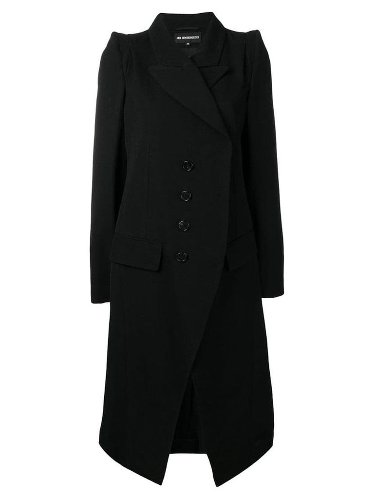 Ann Demeulemeester double-breasted fitted coat - Black