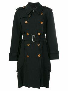 Comme Des Garçons double breasted coat - Black