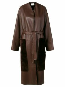 The Row belted midi coat - Brown