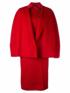 Agnona double-breasted oversized coat - Red