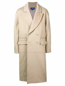 Ader Error oversized double breasted coat - Neutrals