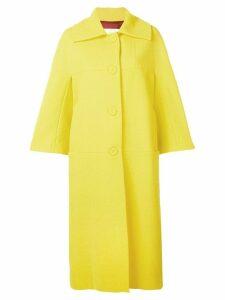 Sara Battaglia oversized single breasted coat - Yellow