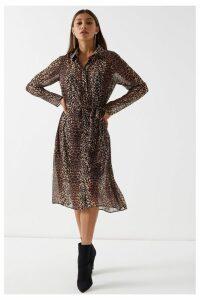 Lipsy Midi Shirt Dress - 16 - Brown