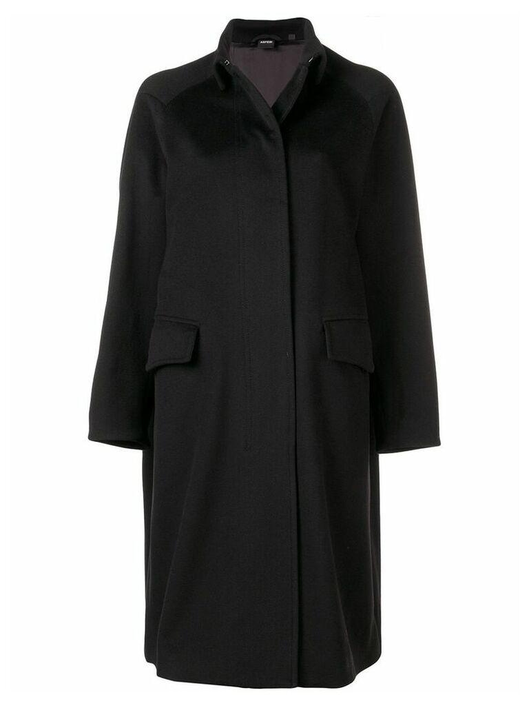 Aspesi raglan sleeve coat - Black