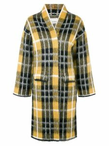 Laneus checked coat - Yellow