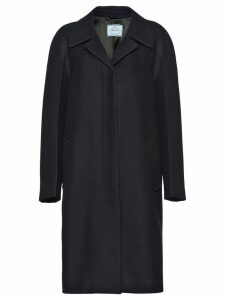 Prada single breasted coat - Blue