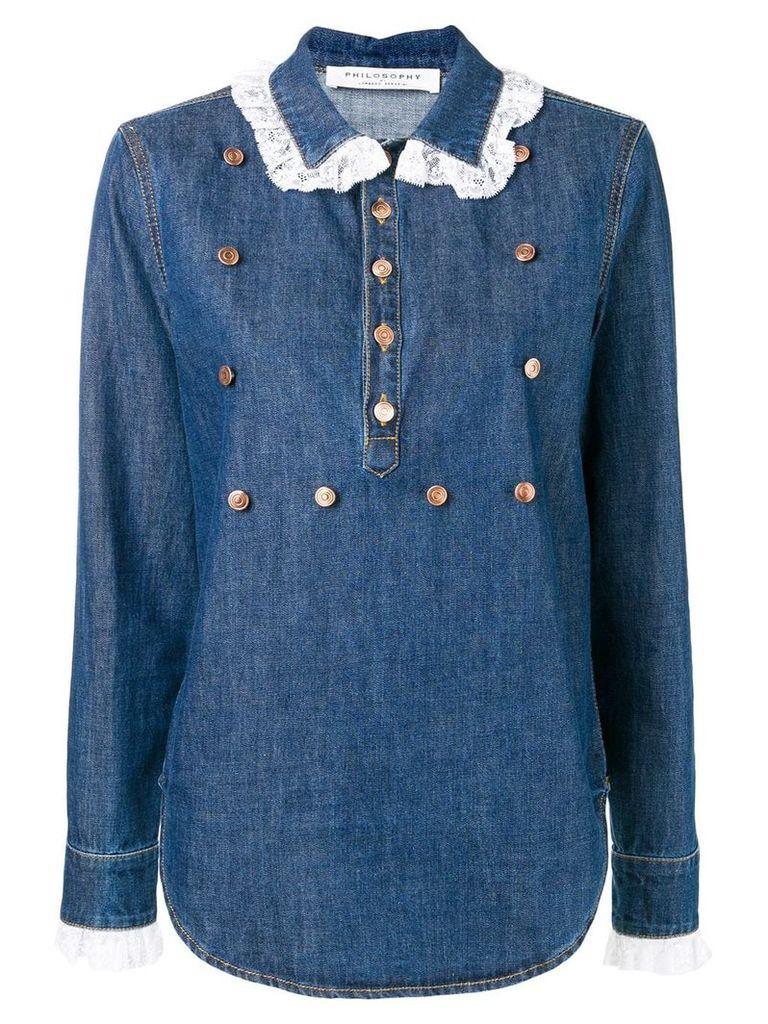Philosophy Di Lorenzo Serafini loose fitted shirt - Blue