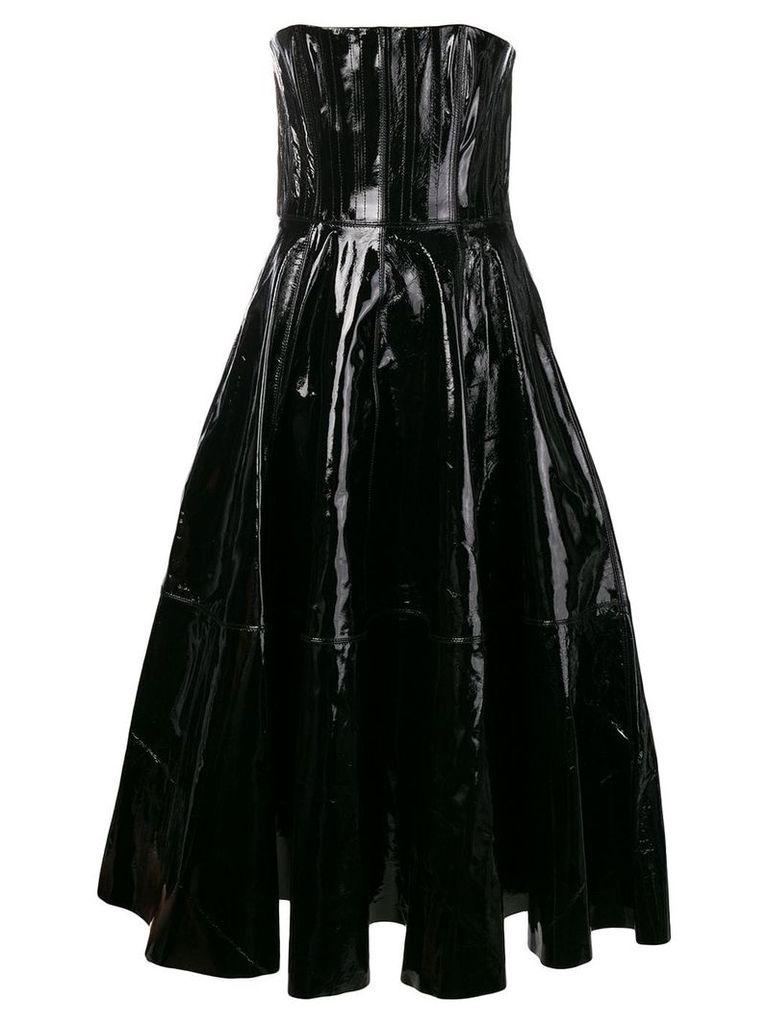 Alex Perry strapless midi dress - Black