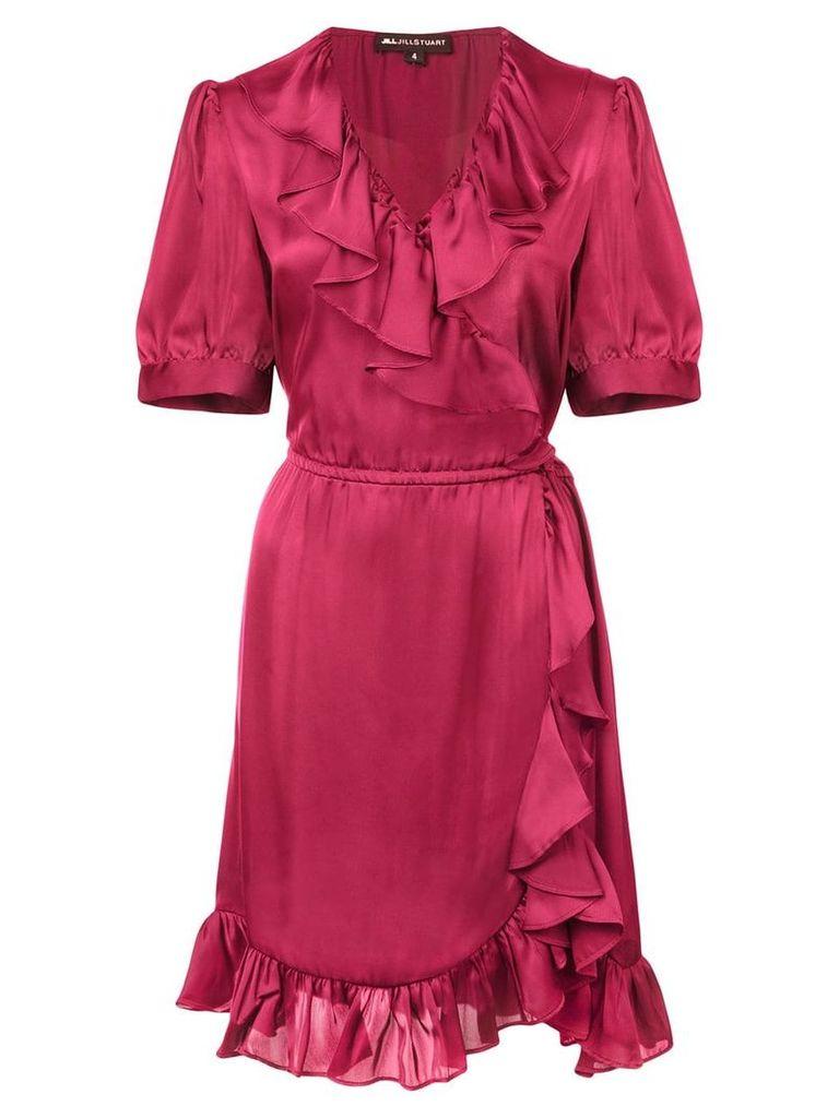 Jill Jill Stuart ruffle short-sleeve dress - Red