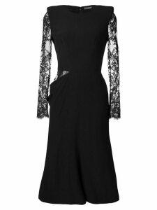 Alexander McQueen lace midi dress - Black