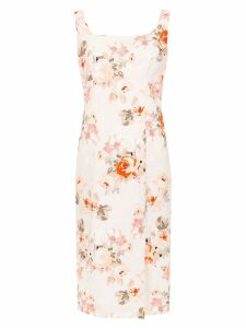 Reinaldo Lourenço slim fit floral dress - Pink