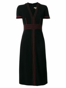 Burberry contrasting stitch detail dress - Black