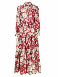 La Doublej floral print maxi dress - Red
