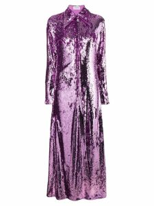 16Arlington sequinned shirt dress - Purple