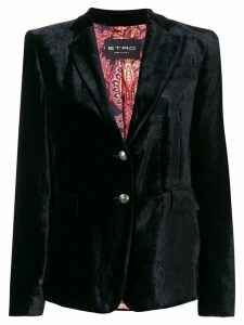 Etro embossed button blazer - Black