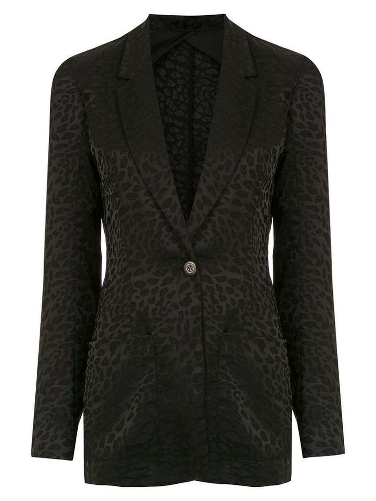 À La Garçonne jacquard blazer - Black