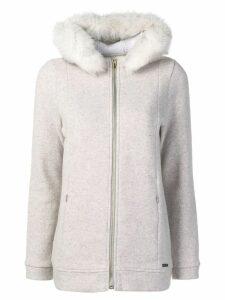 Woolrich zipped-up coat - Grey