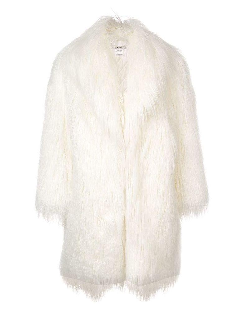 Alice+Olivia Yetta fur jacket - White