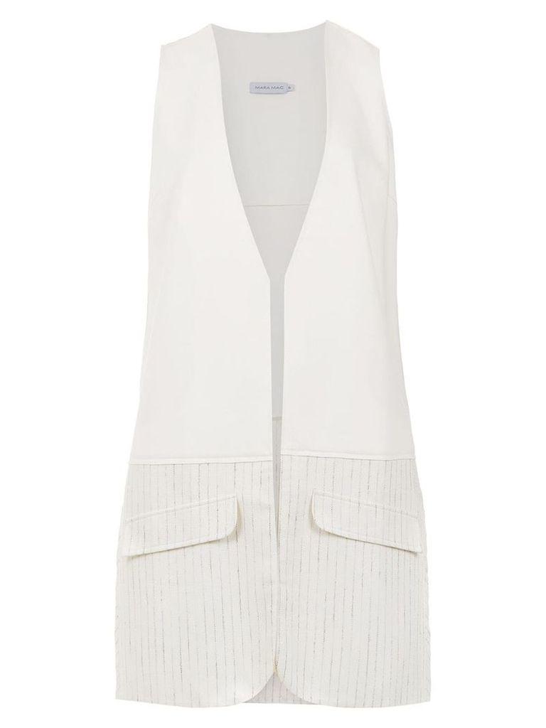 Mara Mac long waistcoat - White