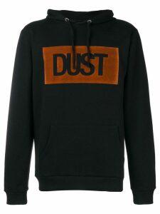 Dust logo print hoodie - Black