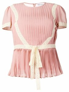 Red Valentino RED (V) pleated pintuck top - Pink