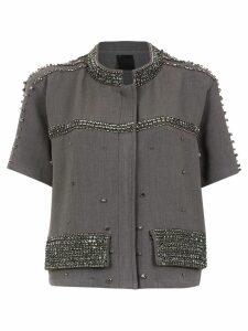 Andrea Bogosian embellished top - Grey