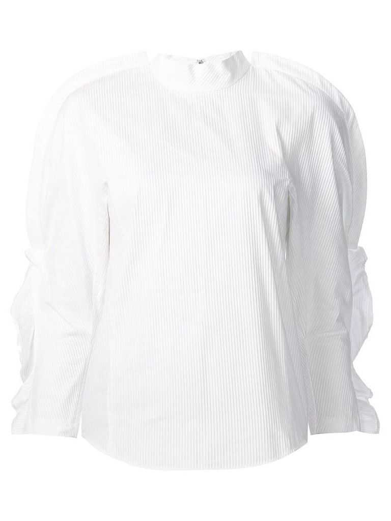 Toga ruffled sleeves blouse - White